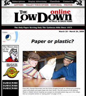 Chantal and Jay on the cover of the Low Down